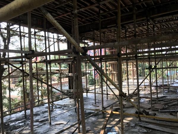 茶園別墅土建工程架設